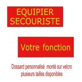 Dossard rouge personnalisé sur velcro plusieurs tailles-nathali-embroidery-fabrication-française