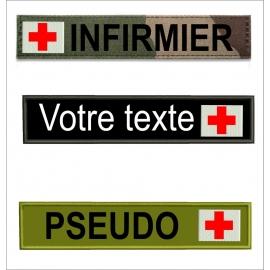 www.nathali-embroidery.fr-base bande patro avec fond-croix-rouge-Personnalisation-Fabrication-Française