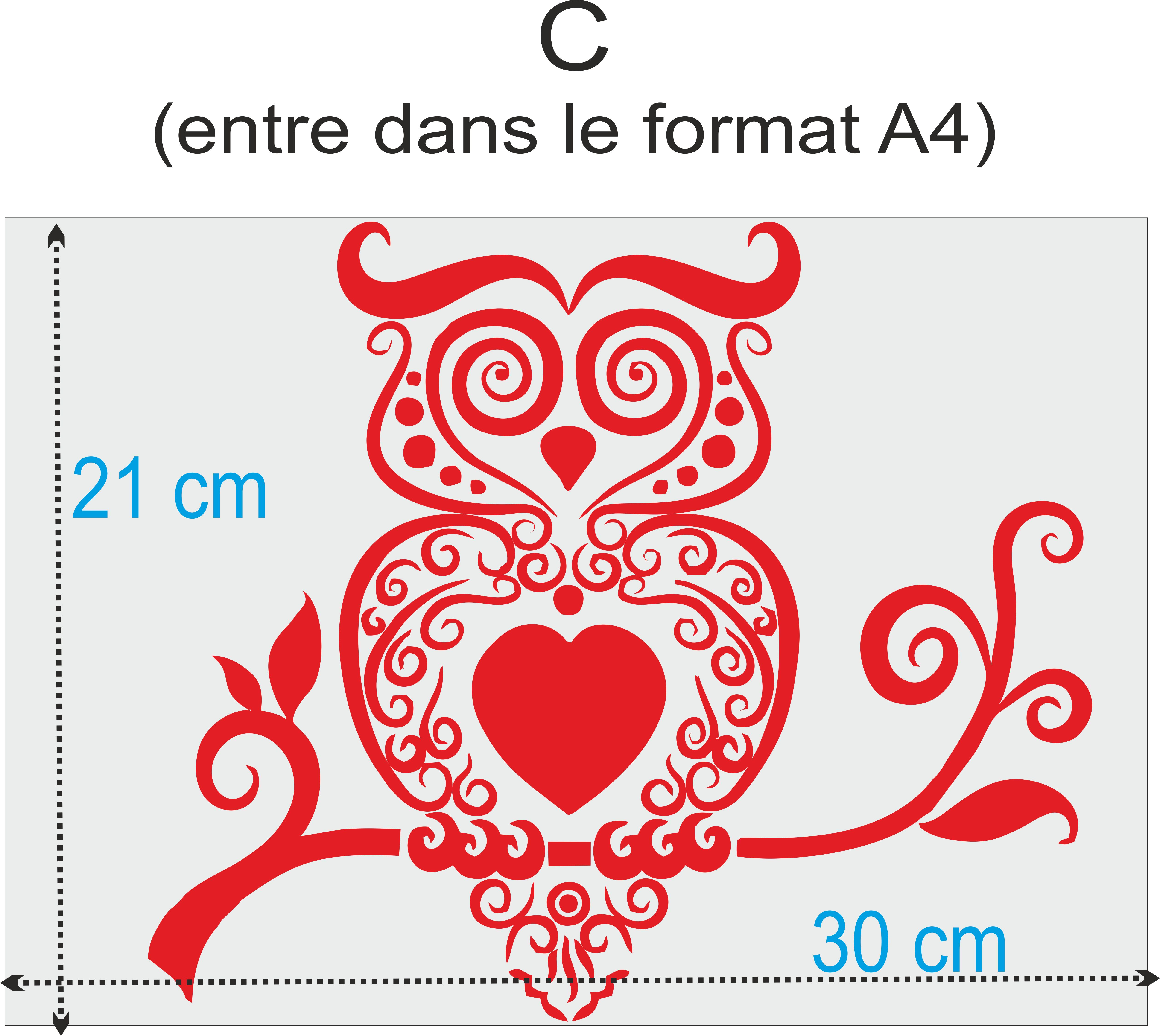 image taille sticker A4