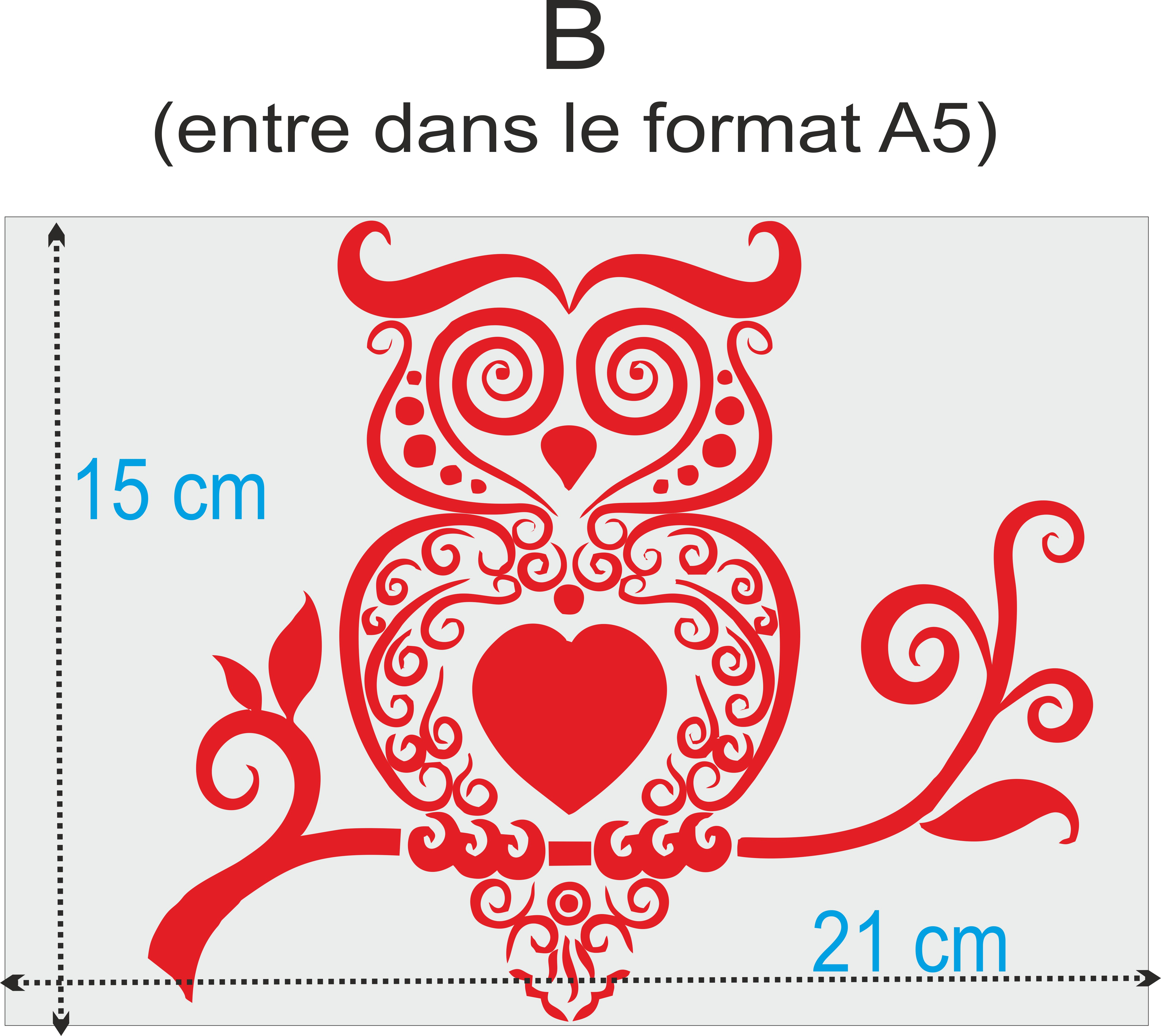 image taille sticker a5