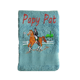 Serviette Eponge  Equitation Dressage
