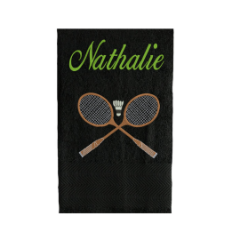 Serviette Eponge Raquettes de Badminton
