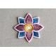 Ecusson fleur thermocollant