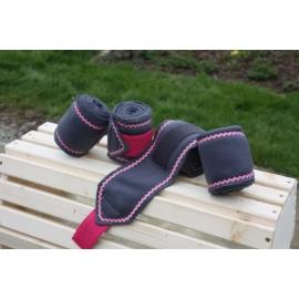 Bandes de polo Liseraie rose croquet