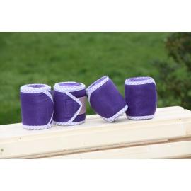 Bandes de polo violet Liseraie vichy