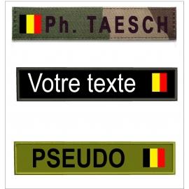 Bande patro avec  drapeau Belge