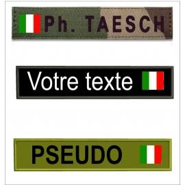 Bande patro avec  drapeau Italien