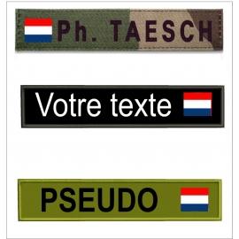 Bande patro avec  drapeau Pays Bas