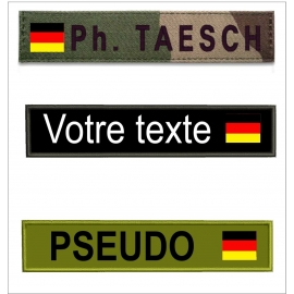 Bande patro avec drapeau Allemand