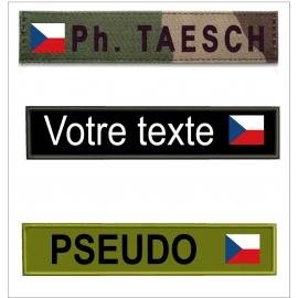 Bande patro avec  drapeau Tchèque