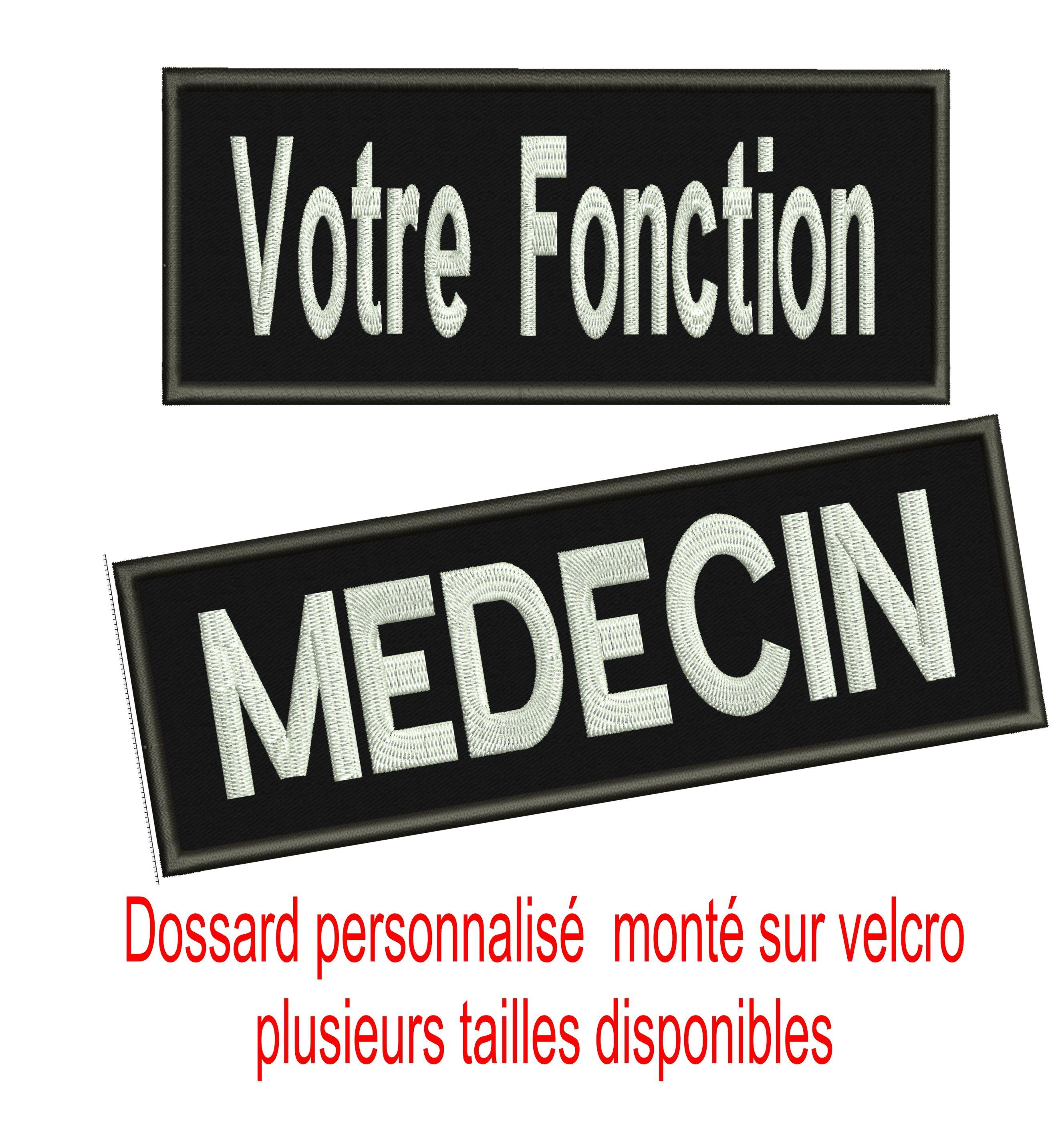Dossard Personnalise Sur Velcro Fabrication Française