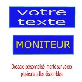 Dossard bleu roy personnalisé sur velcro plusieurs tailles-nathali-embroidery-fabrication-française