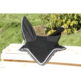 Bonnet noir court tresse plate blanche