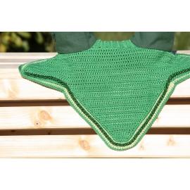 Bonnet vert sapin  cordelière verte