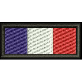 Ecusson Brodé France taille 4.5 cm sur 2 cm