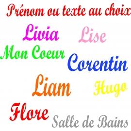 Sticker Prénom ou texte au choix personnalisé style Script