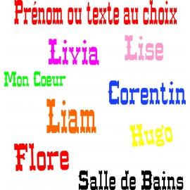 Sticker Prénom ou texte au choix personnalisé style  Western