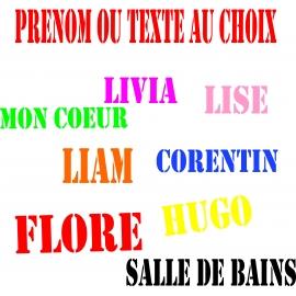 Sticker Prénom ou texte au choix personnalisé style  Stencil