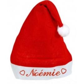 Bonnet de Noël personnalisé avec coeur plusieurs tailles