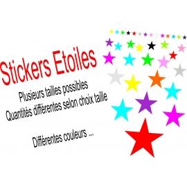 Stickers Etoile Plusieurs tailles