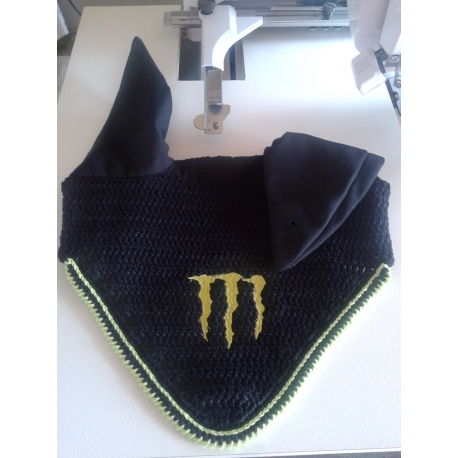 www.nathali-embroidery.fr-Bonnet-anti-mouches-Monster-Energy-crocheter-mains-Personnalisation-Fabrication-Française
