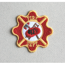 Ecusson Pompier embleme  thermocollant