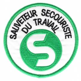 Ecusson sauveteur Secouriste du Travail  Vert