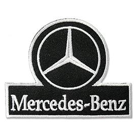 Ecusson logo Mercedes Bentz thermocollant