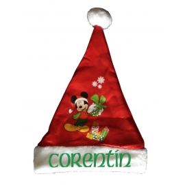 Bonnet Noël Mickey  personnalisé