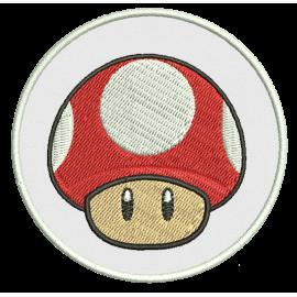 Ecusson champignon Mario thermocollant