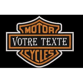 Ecusson logo Harley Davidson personnalisé à votre nom