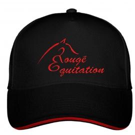 Casquette Rougé Equitation